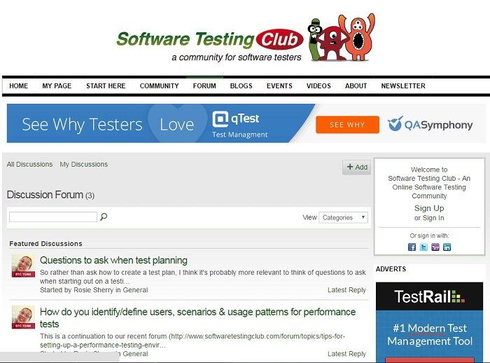 SoftwareTestingClub_forum
